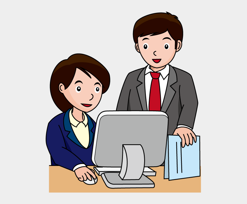 user clipart, Cartoons - Clipart Computer User - Computer In Office Clipart