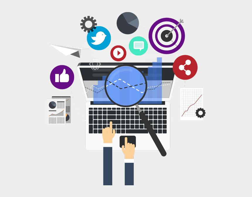 microsoft clipart online, Cartoons - Marketing Clipart Internet Marketing - Computer Top View Vector Png