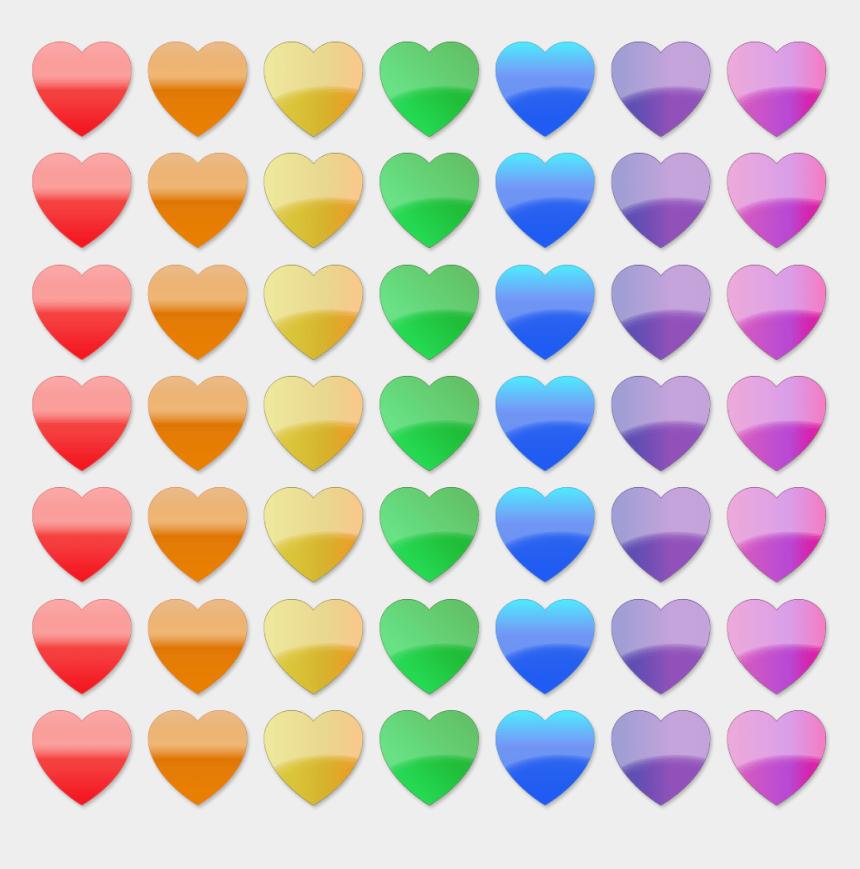 stock clipart, Cartoons - Stock Clip Art - Rainbow Hearts Line