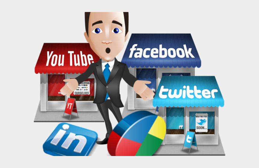 manager clipart, Cartoons - Marketing Clipart Marketing Manager - Confused By Social Media
