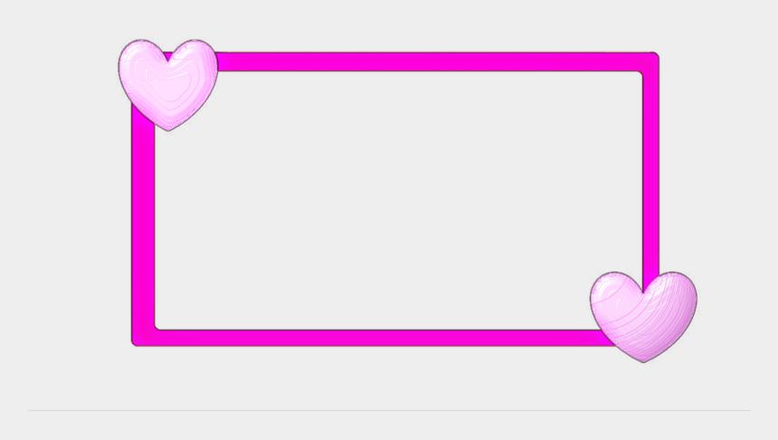 heart border clipart, Cartoons - Hearts Border Png - Border Design Pink Heart
