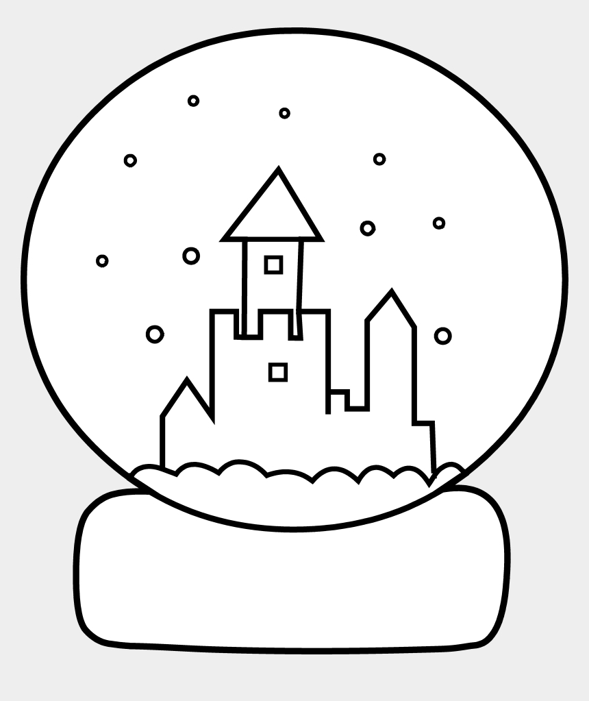 remember clipart, Cartoons - Cute Snow Globe Coloring Page - Winter Snow Globes Colouring