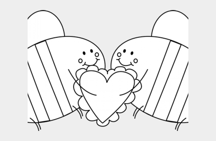 valentines day clipart black and white, Cartoons - Illustration