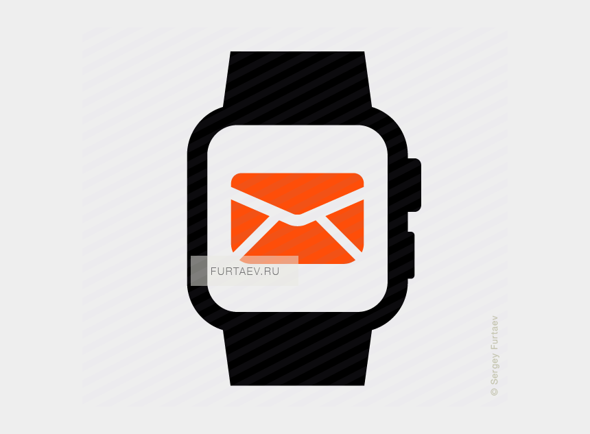 heart rate clipart, Cartoons - Email In Smartwatch Icon - Smart Watch Png Icon