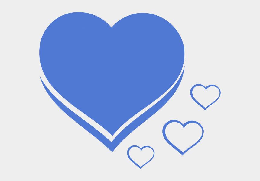 cute heart clipart, Cartoons - Heart Blue Azul Clip Art - Drawing Of A Small Heart