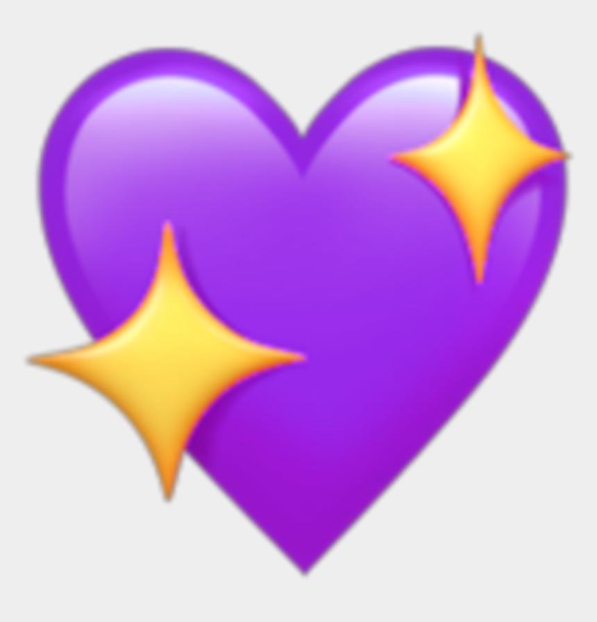 purple heart clipart, Cartoons - #purple #heart #star #emoji #kawaii - Sparkling Heart Emoji