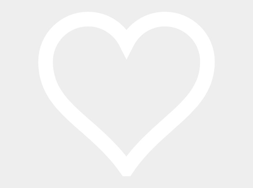 heart outline clipart, Cartoons - White Heart Outline Png - White Love Heart Outline