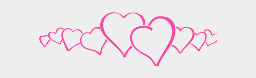 pink heart clipart, Cartoons - Hearts Clipart Pink - Row Of Pink Hearts