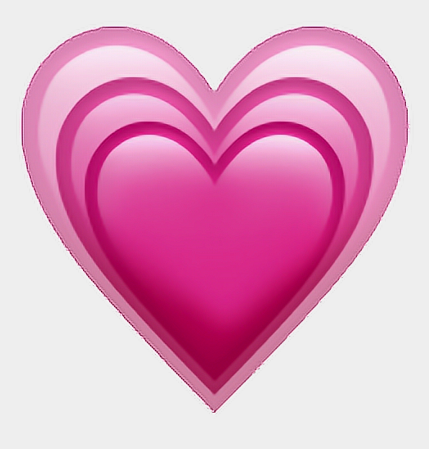 Pink Heart Emoji Png - Iphone Heart Emoji Png, Cliparts & Cartoons