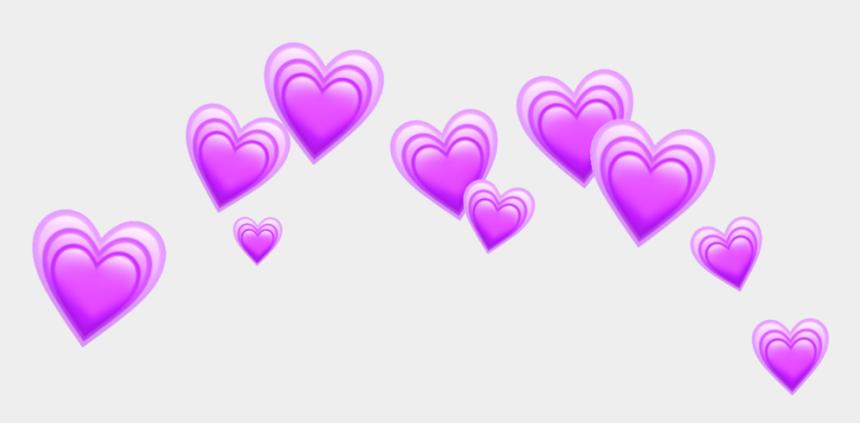 love heart clipart, Cartoons - Heart Hearts Purple Crown Tumblr Emoji - Blue Heart Crown Transparent