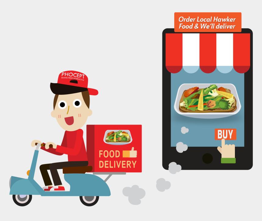 restaurant clip art, Cartoons - Restaurants Clipart Order Food - Food Delivery Service Png