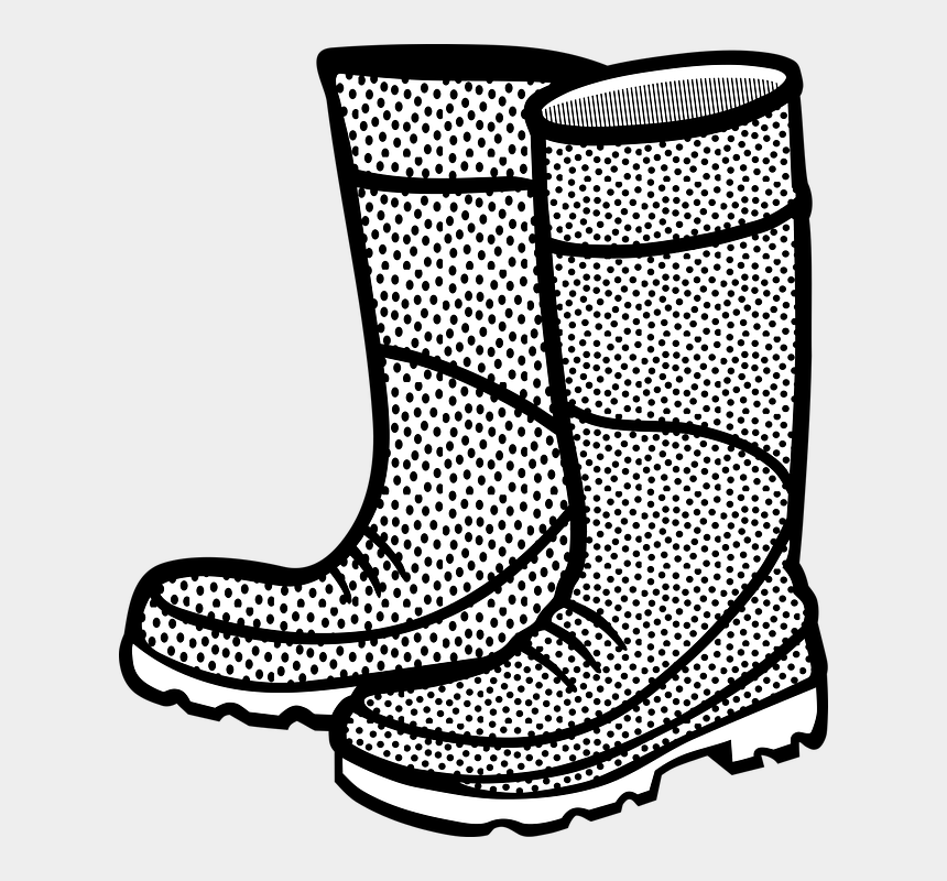 boots clipart, Cartoons - Boot Boots Clothing Rubber Shoe - Rain Boots Clipart Black And White