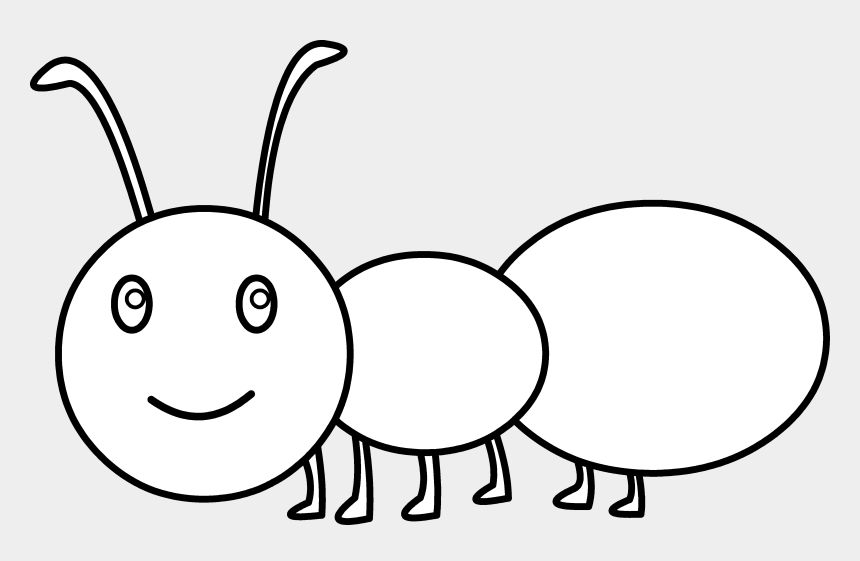 ant clip art, Cartoons - Ant Black And White Ant Clipart Black And White Free - Cute Ant Coloring
