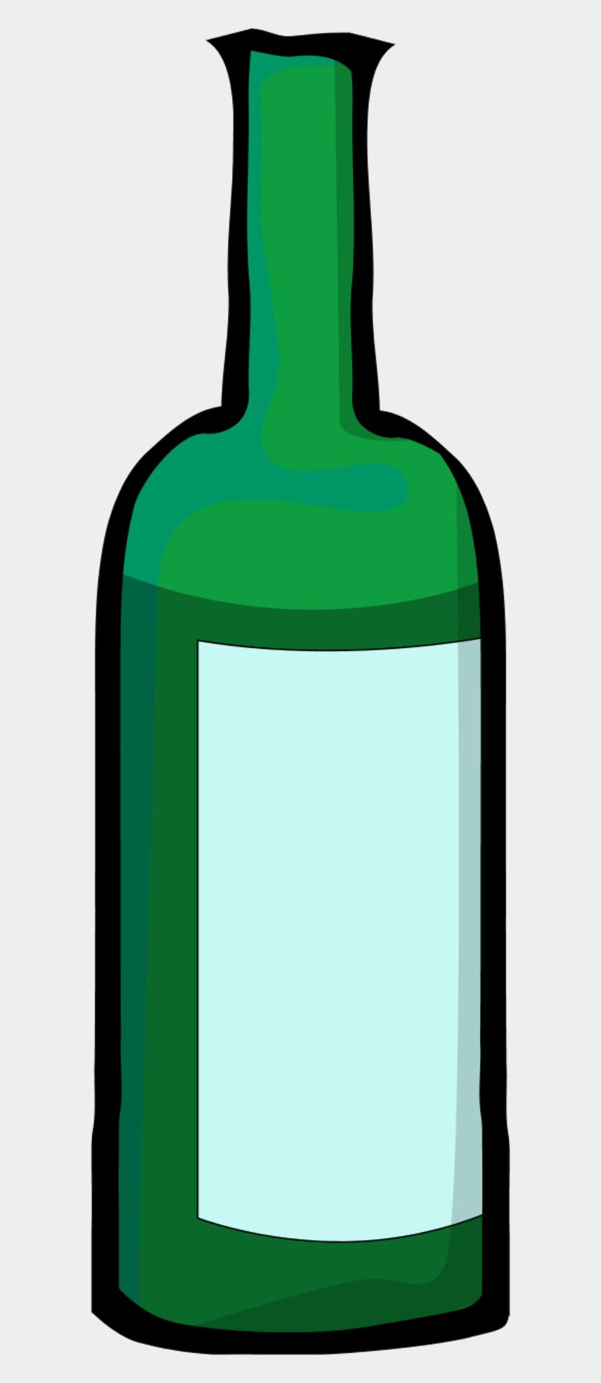 wine bottle clip art, Cartoons - Bottle Clipart Green Bottle - Wine Bottle Clip Art