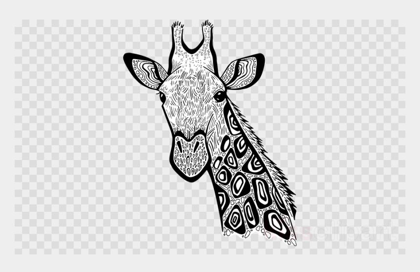 giraffe clip art, Cartoons - Zentangle Giraffe Art Clipart Giraffe Line Art - Stikers Tumblr En Png