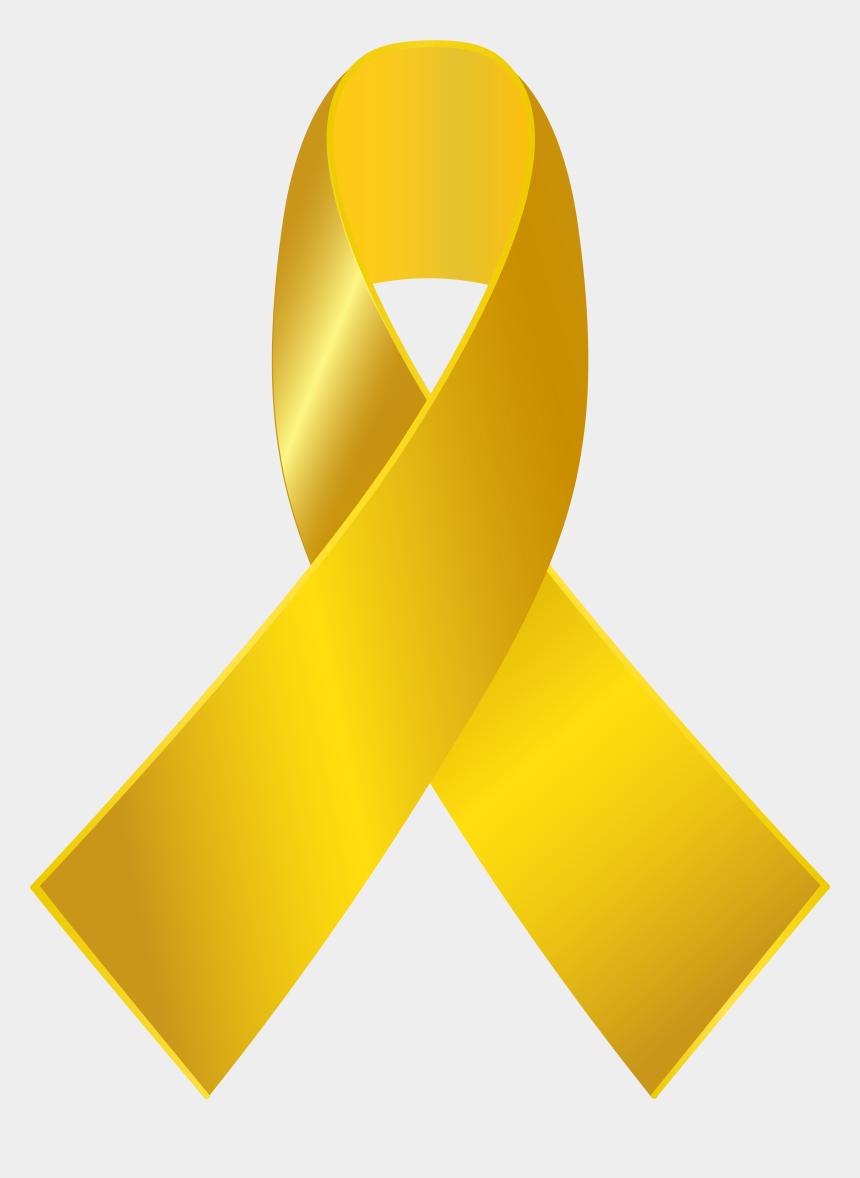 cancer ribbon clipart, Cartoons - Gold Awareness Ribbon Png Clip Art - Gold Cancer Ribbon Png