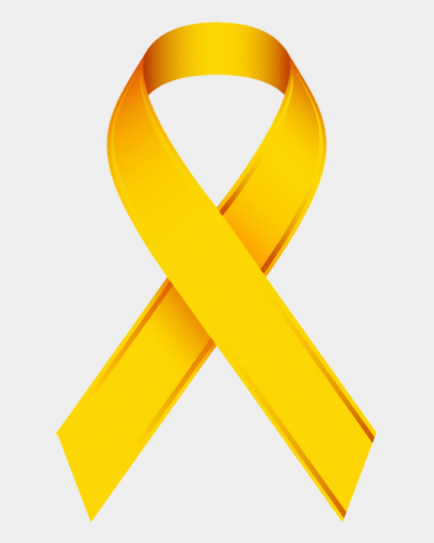 cancer ribbon clipart, Cartoons - Gold Cancer Ribbon Clip Art - Yellow Ribbon Pediatric Cancer