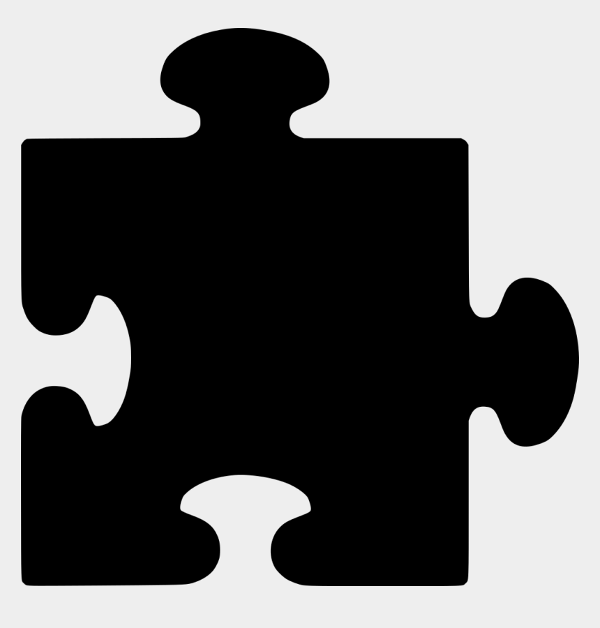 puzzle pieces clip art, Cartoons - Black Puzzle Piece Clip Art - Puzzle Piece Clipart Png