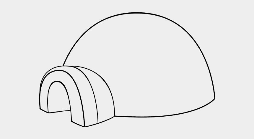 igloo clipart, Cartoons - Eskimo Drawing Igloo - Line Art