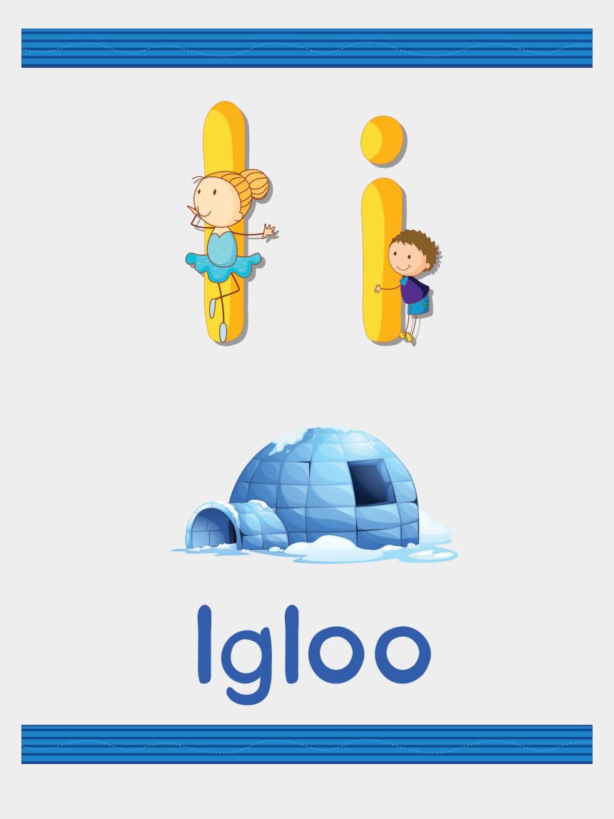 igloo clipart, Cartoons - I For Igloo - Alphabet