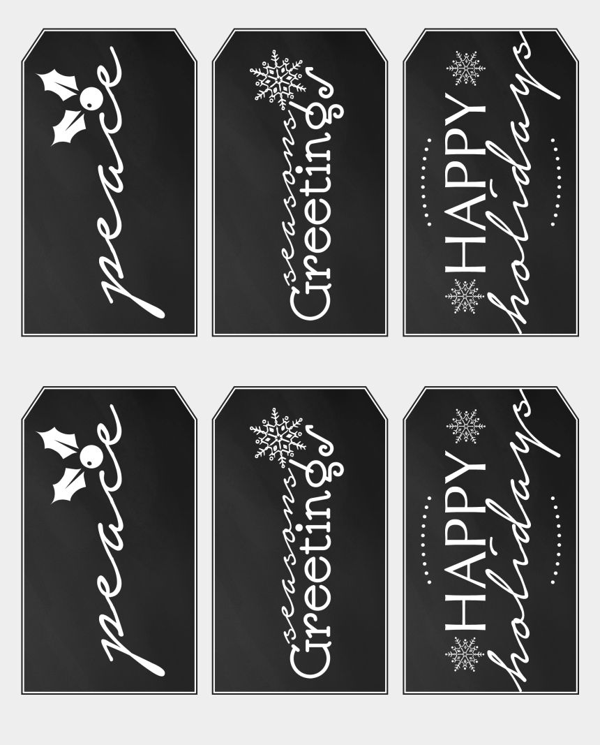 image about Printable Christmas Tags Black and White named Free of charge Printable Xmas Reward Tags â'¸ - Printable Xmas