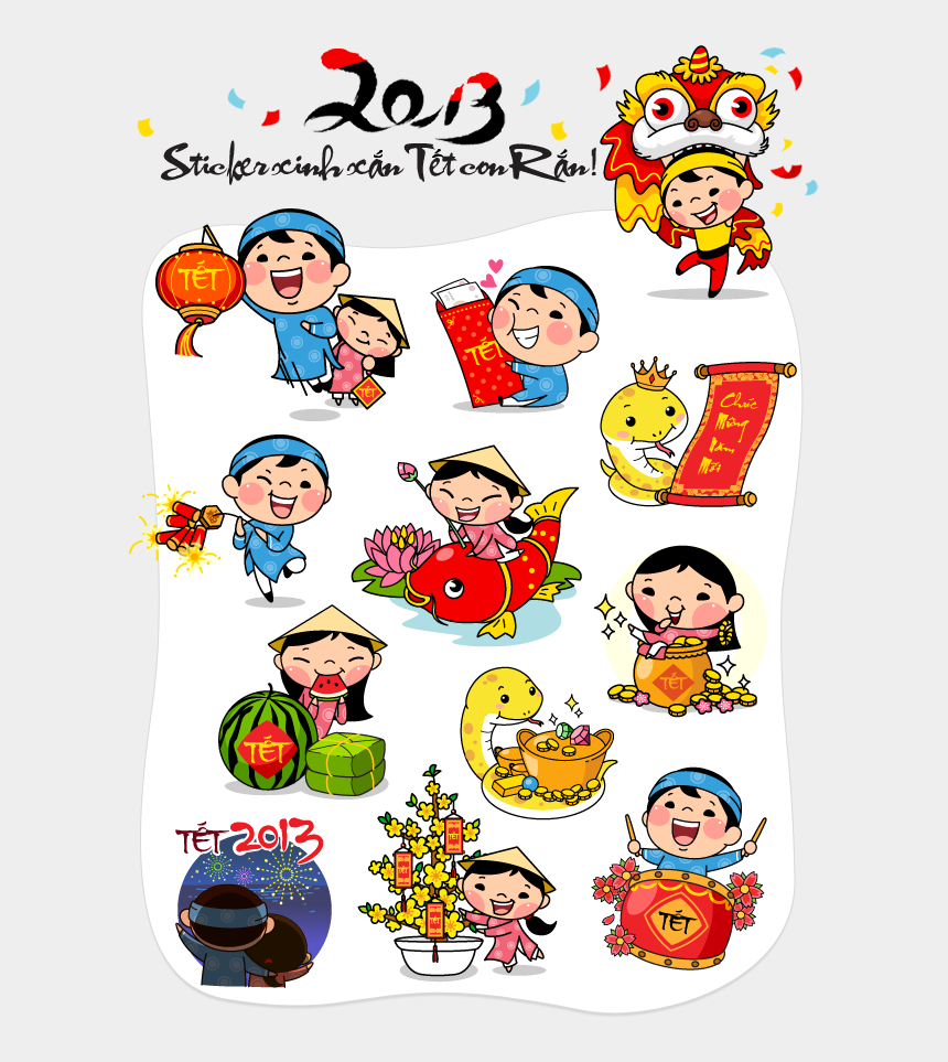 new year clip art, Cartoons - Chinese New Year Clipart Tet Holiday - Chinese New Year 2012 Greeting