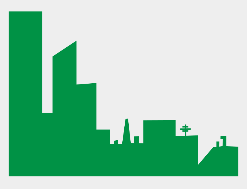 buildings clipart, Cartoons - New York Skyline Png - Green Building Vector Png