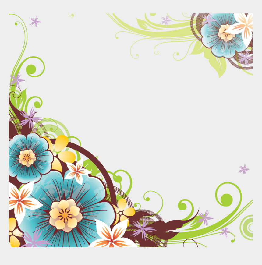 spring flower clipart, Cartoons - Spring Flower Border Png - Flower Vector Border Png