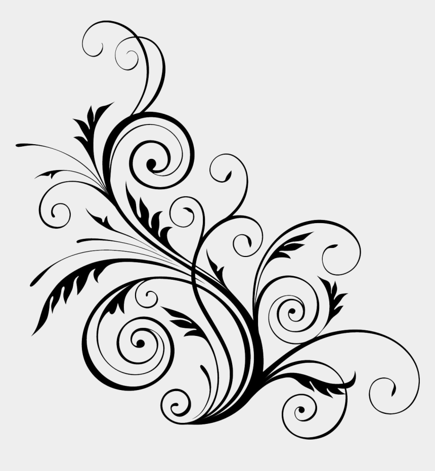 swirls clipart, Cartoons - Download Image Vector Clipart - Floral Design Templates Png