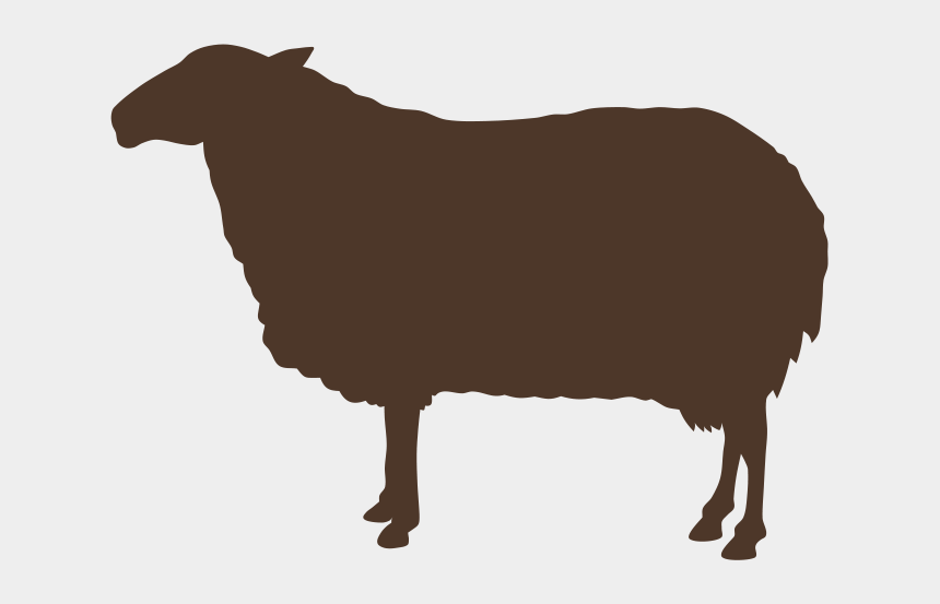 animal clip art, Cartoons - Ruminants - Sheep Silhouette Free Vector