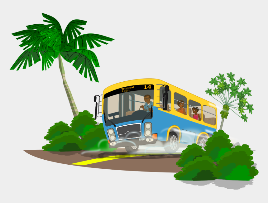school bus clip art, Cartoons - Free Island School Bus Clip Art - Bus Trip Clipart