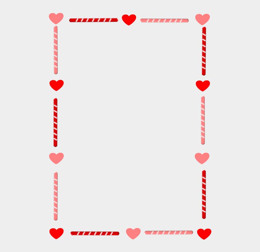 candy cane clip art, Cartoons - Border Candy Heart Love Valentine - Valentines Day Border Clip Art