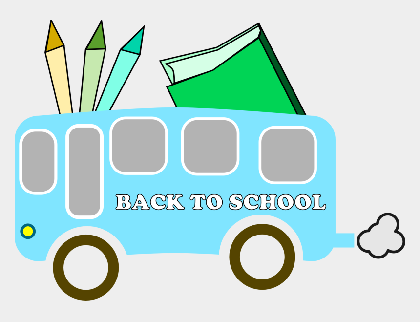 school bus clip art, Cartoons - Back To School Bus Back School Book Crayons Kids - Homeschool Not Back To School
