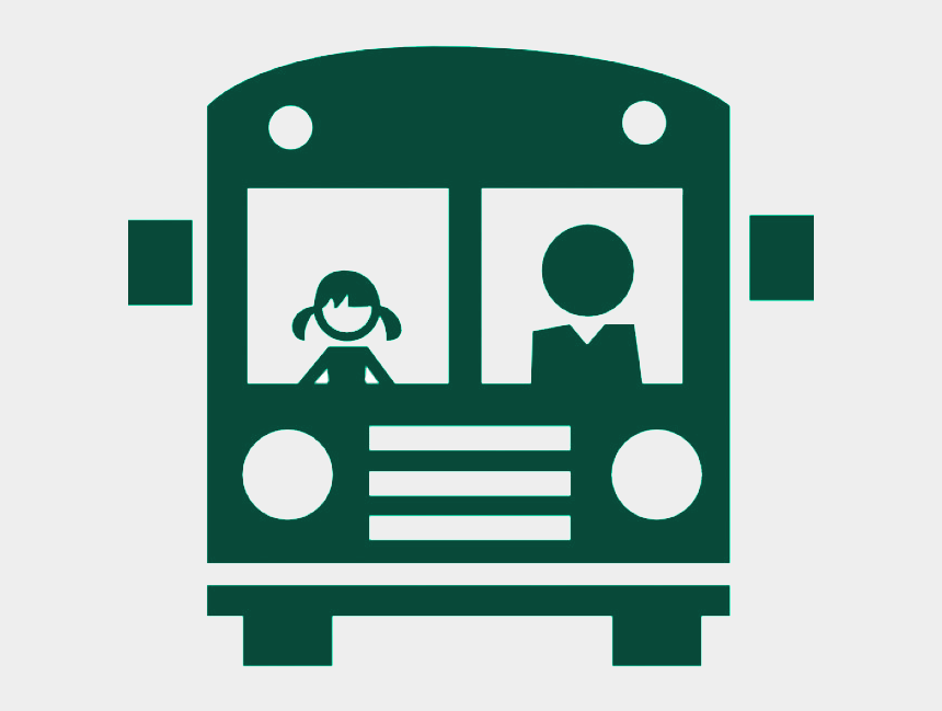 school bus clip art, Cartoons - Green Bus - Icono Bus Escolar Png