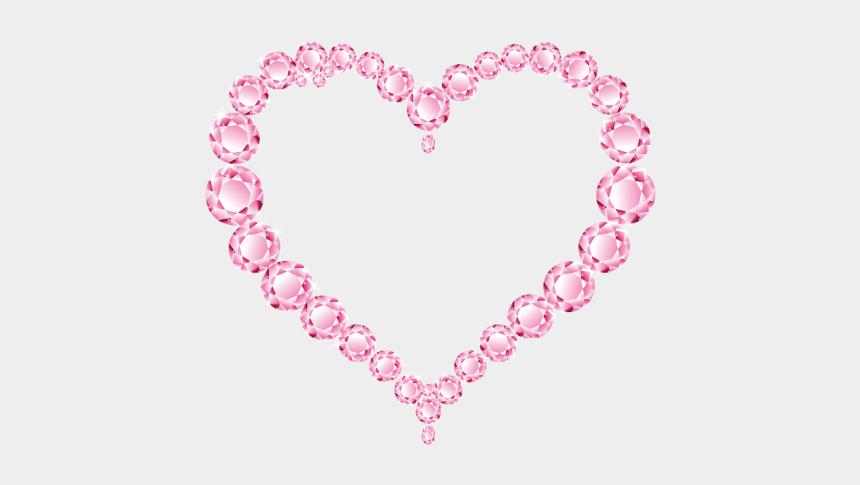 diamond clip art, Cartoons - Pink Glitter Heart Png