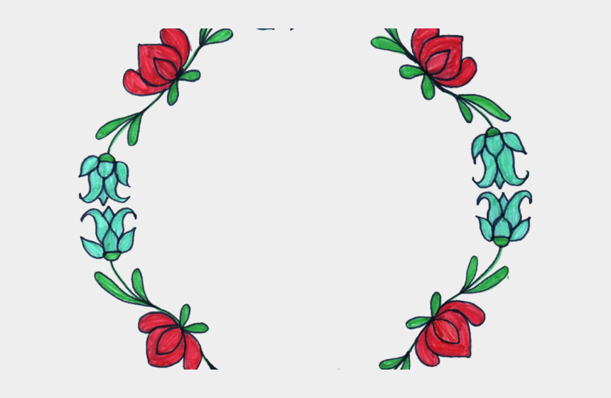 borders clipart, Cartoons - Flowers Borders Clipart Circle - Circle Flower Design Png