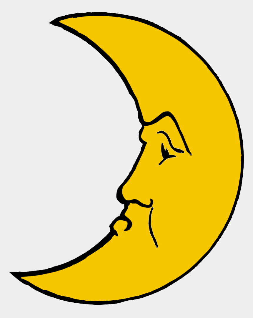 moon clip art, Cartoons - Moon Clipart Bulan Sabit - Crescent Moon Cartoon