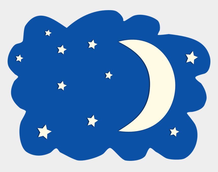 moon clip art, Cartoons - Night Moon Clipart Moon - Moon And Stars Clipart