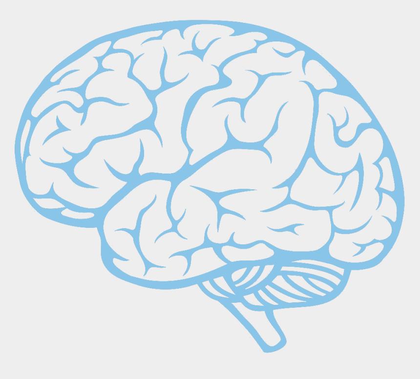 brain clip art, Cartoons - Technological And Environmental Transformations - Brain Side View Vector