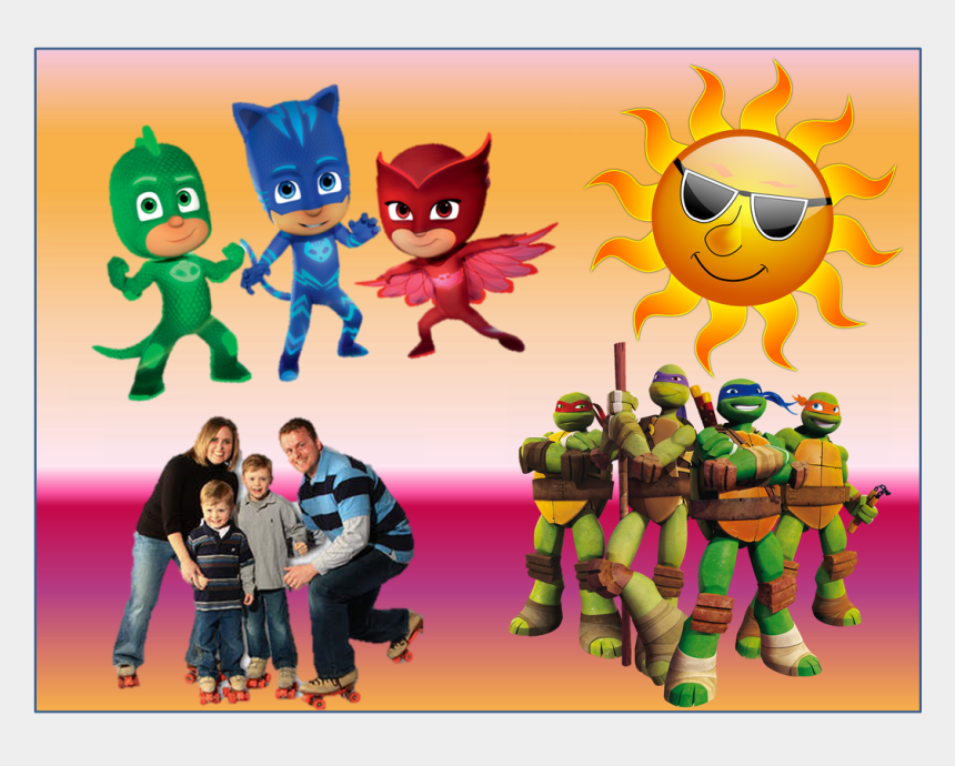 upcoming events clip art, Cartoons - Summer Saturday Family Fun Event - Pj Masks