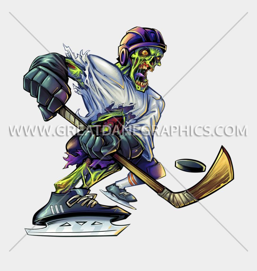 hockey player clipart, Cartoons - Hockey Clipart Polo Stick - Zombie Sports