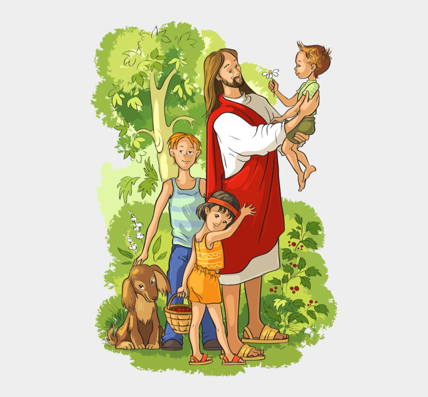 baby jesus clipart, Cartoons - Bible Resurrected Illustration Jesus Vector Holding - Jesus With Children Clip Art