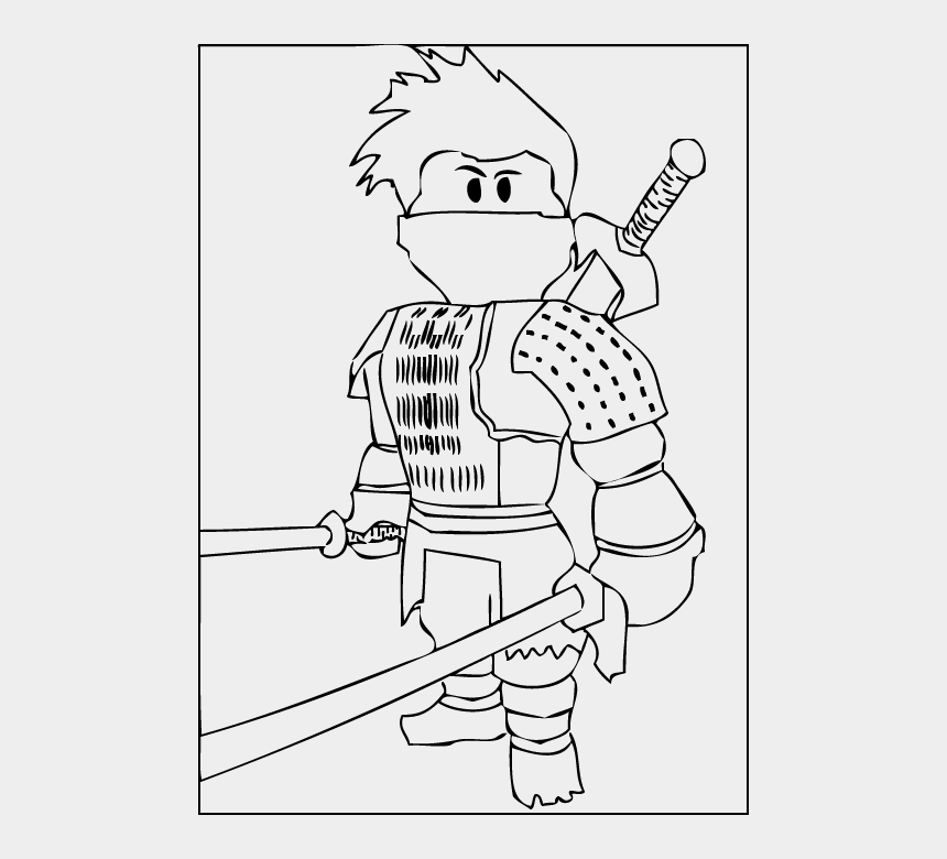 A Free Printable Roblox Ninja Coloring Page Kids Roblox Coloring