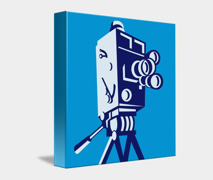 movie film clipart, Cartoons - Vintage Movie Film Camera Retro Shower Curtain - Movie Camera