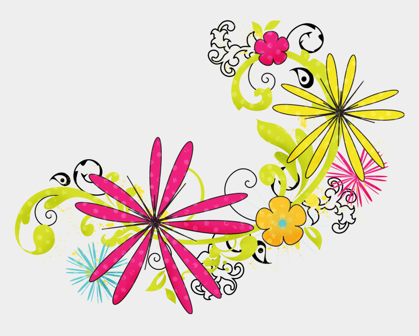 floral design clipart, Cartoons - Floral Png Hd - Flowers Clipart Png Hd