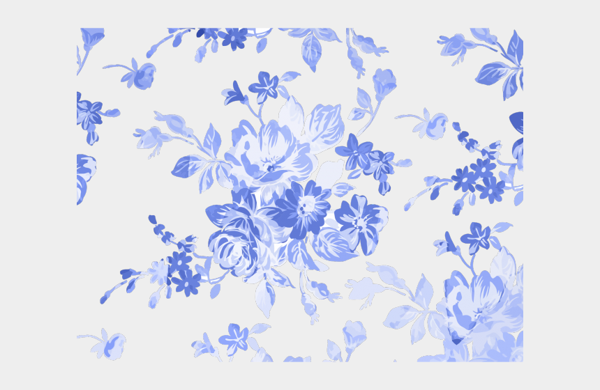 floral design clipart, Cartoons - Floral Clipart Blue - Blue Floral Watercolor Background