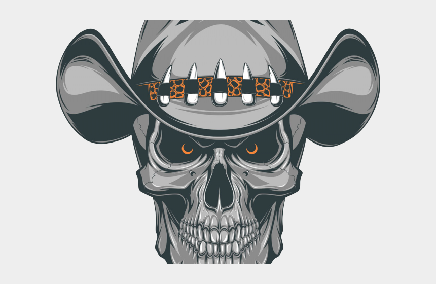 kreuz clipart, Cartoons - Tribal Skull Tattoos Clipart Boy - Cowboy Skull Tattoo Designs