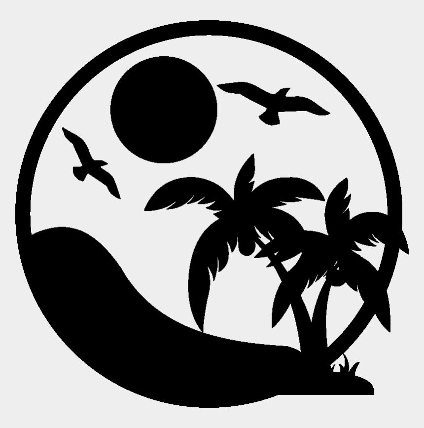 papagei clipart, Cartoons - Sticker Palmiers Sous Les Tropiques Ambiance Sticker - Palm Tree Vector Png