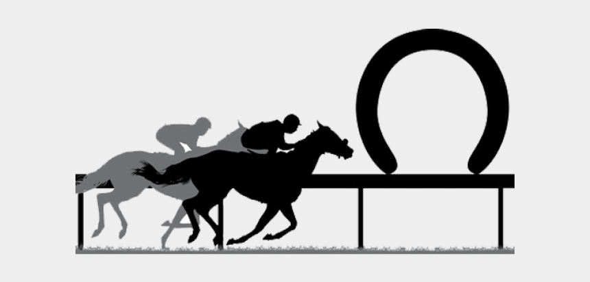 Clipart Horse Racing - Melbourne Cup Black And White - Png Download - Full  Size Clipart (#3893256) - PinClipart