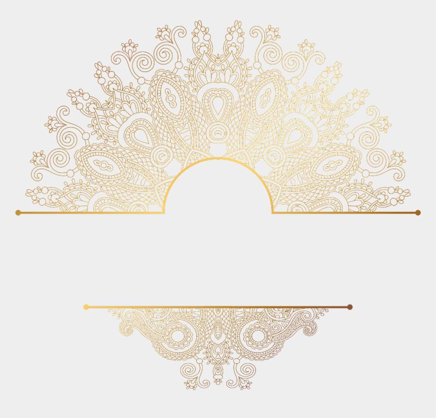paisley clipart, Cartoons - #paisley #gold #mandala #divider #header #textline - Mandala Gold Transparent Background